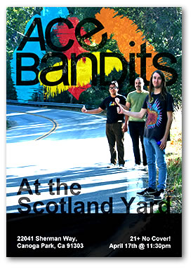 Ace Bandits concert flyers for the Scotland Yard