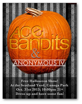 Ace Bandits promo flyer for the Scotland Yard halloween show