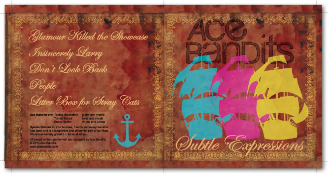Ace Bandits CD cover design