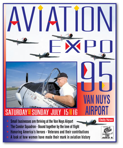 Aviation expo Van Nusy airport cover design by Peter Holenstein