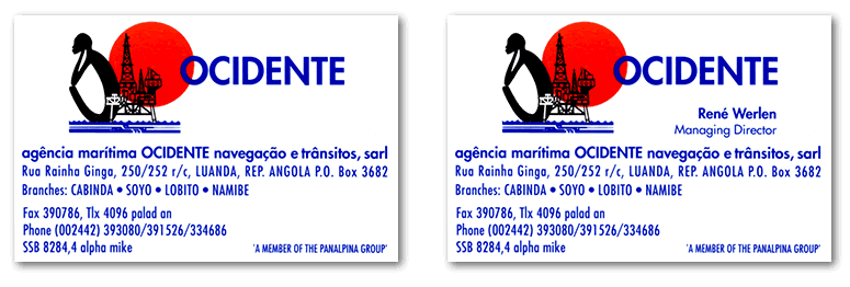 ocidente business cards
